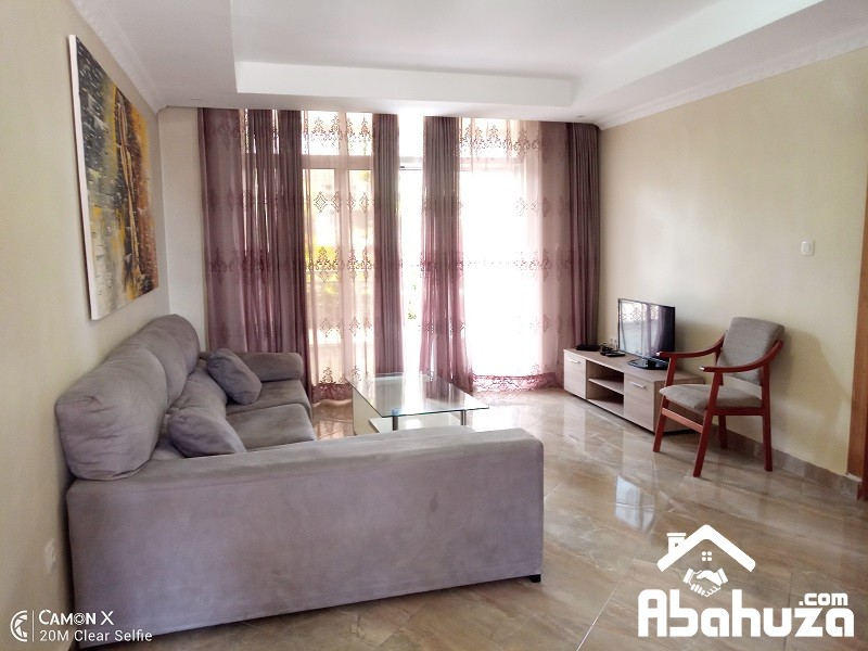 A FURNISHED 1 BEDROOM APARTMENT FOR RENT IN KIGALI AT GACURIRO